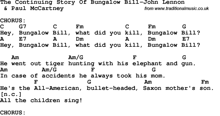Bungalow Bill – Whiter Than The Beatles